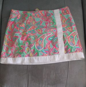Lilly Pulitzer faux wrap mini skirt 4